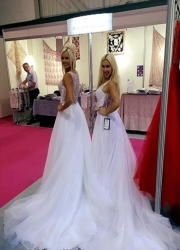 bridal models and exhibition hostesses at the SECC Scotland