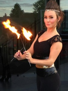 fire, fire performers, event stafff