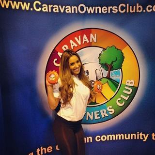 promo staff Scottish caravan show